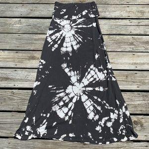 Tye dye long skirt